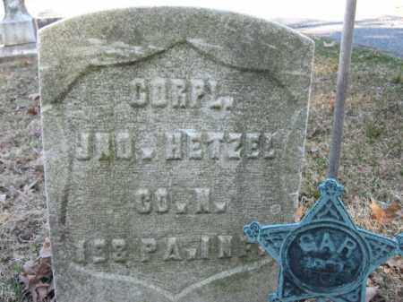 HETZEL (CW), CORP.JOHN - Northampton County, Pennsylvania | CORP.JOHN HETZEL (CW) - Pennsylvania Gravestone Photos
