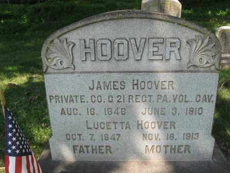 HOOVER (CW), JAMES - Northampton County, Pennsylvania | JAMES HOOVER (CW) - Pennsylvania Gravestone Photos