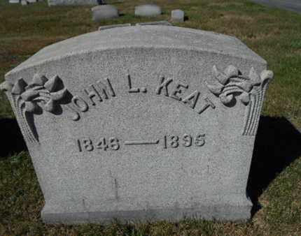 KEAT, JOHN L. - Northampton County, Pennsylvania   JOHN L. KEAT - Pennsylvania Gravestone Photos