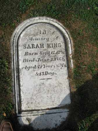 KING, SARAH - Northampton County, Pennsylvania | SARAH KING - Pennsylvania Gravestone Photos