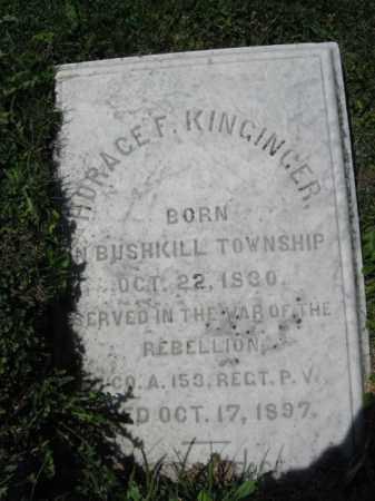 KINGINGER (CW), HORACE  F. - Northampton County, Pennsylvania | HORACE  F. KINGINGER (CW) - Pennsylvania Gravestone Photos