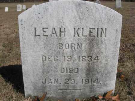 KLEIN, LEAH - Northampton County, Pennsylvania | LEAH KLEIN - Pennsylvania Gravestone Photos