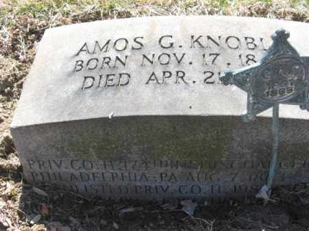 KNOBLE (CW), PVT. AMOS G. - Northampton County, Pennsylvania   PVT. AMOS G. KNOBLE (CW) - Pennsylvania Gravestone Photos