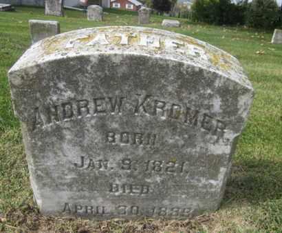 KROMER, ANDREW - Northampton County, Pennsylvania   ANDREW KROMER - Pennsylvania Gravestone Photos
