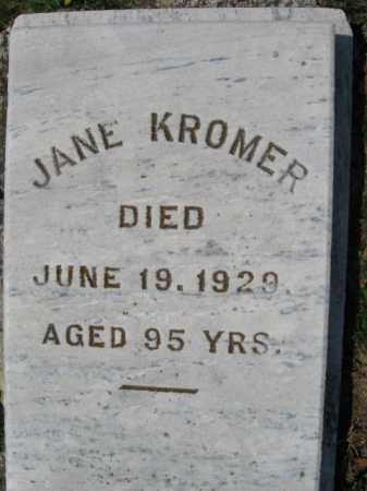 KROMER, JANE - Northampton County, Pennsylvania | JANE KROMER - Pennsylvania Gravestone Photos