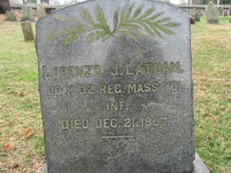 LATHAM (CW), LORENZO J. - Northampton County, Pennsylvania   LORENZO J. LATHAM (CW) - Pennsylvania Gravestone Photos