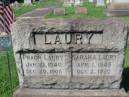 LAURY (CW), PHAON - Northampton County, Pennsylvania | PHAON LAURY (CW) - Pennsylvania Gravestone Photos