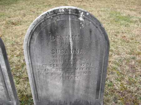 LEITH, SUSANNA - Northampton County, Pennsylvania | SUSANNA LEITH - Pennsylvania Gravestone Photos