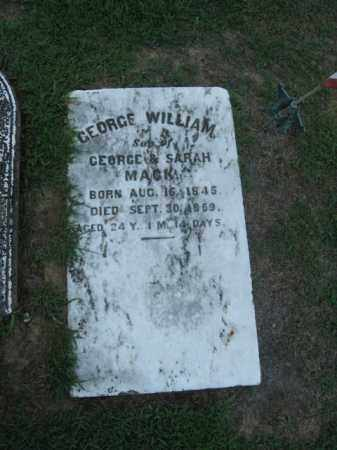 MACK, GEORGE  WILLIAM - Northampton County, Pennsylvania | GEORGE  WILLIAM MACK - Pennsylvania Gravestone Photos