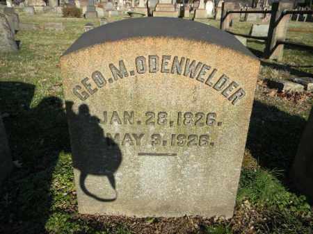 ODENWELDER, GEORGE M. - Northampton County, Pennsylvania   GEORGE M. ODENWELDER - Pennsylvania Gravestone Photos