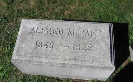 PAFF, ALFRED M. - Northampton County, Pennsylvania | ALFRED M. PAFF - Pennsylvania Gravestone Photos