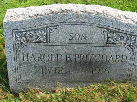 PRITCHARD, HAROLD B. - Northampton County, Pennsylvania | HAROLD B. PRITCHARD - Pennsylvania Gravestone Photos