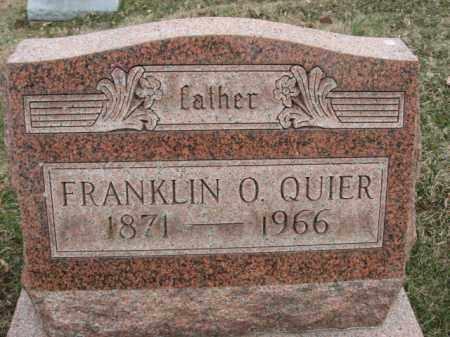 QUIER, FRANKLIN - Northampton County, Pennsylvania | FRANKLIN QUIER - Pennsylvania Gravestone Photos