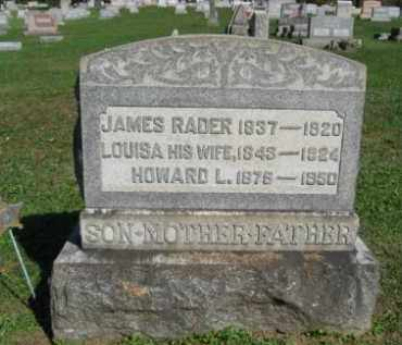 RADER (CW), JAMES - Northampton County, Pennsylvania | JAMES RADER (CW) - Pennsylvania Gravestone Photos