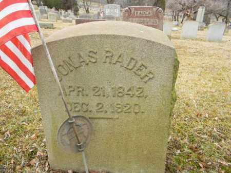RADER, JONAS - Northampton County, Pennsylvania   JONAS RADER - Pennsylvania Gravestone Photos