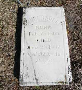 RADER, JOHN - Northampton County, Pennsylvania | JOHN RADER - Pennsylvania Gravestone Photos