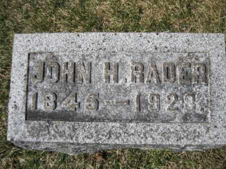 RADER, JOHN H. - Northampton County, Pennsylvania   JOHN H. RADER - Pennsylvania Gravestone Photos