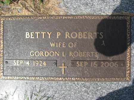ROBERTS, BETTY P. - Northampton County, Pennsylvania | BETTY P. ROBERTS - Pennsylvania Gravestone Photos