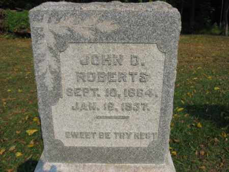 ROBERTS, JOHN D. - Northampton County, Pennsylvania   JOHN D. ROBERTS - Pennsylvania Gravestone Photos