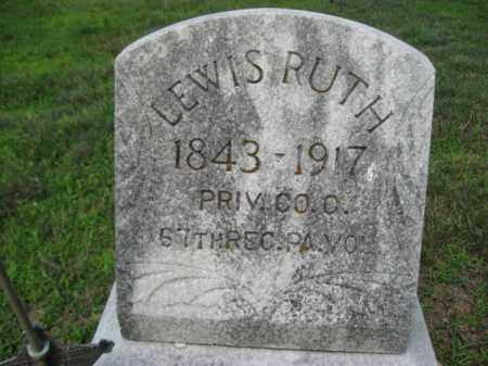 RUTH  (CW), LEWIS - Northampton County, Pennsylvania | LEWIS RUTH  (CW) - Pennsylvania Gravestone Photos