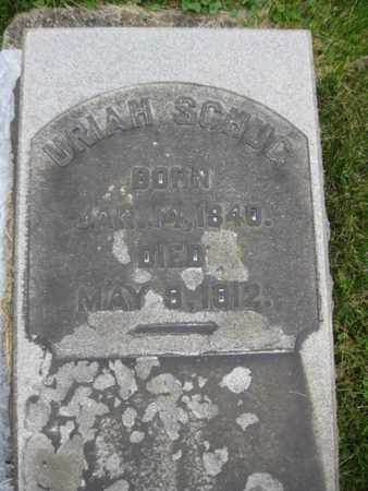 SCHUG, URIAH - Northampton County, Pennsylvania   URIAH SCHUG - Pennsylvania Gravestone Photos