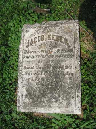 SEBER (CW), JACOB - Northampton County, Pennsylvania | JACOB SEBER (CW) - Pennsylvania Gravestone Photos
