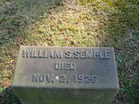 SEMPLE, WILLIAM S. - Northampton County, Pennsylvania   WILLIAM S. SEMPLE - Pennsylvania Gravestone Photos