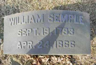 SEMPLE, WILLIAM - Northampton County, Pennsylvania | WILLIAM SEMPLE - Pennsylvania Gravestone Photos