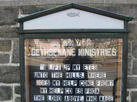 SIGN, CHURCH CEMETERY - Northampton County, Pennsylvania | CHURCH CEMETERY SIGN - Pennsylvania Gravestone Photos