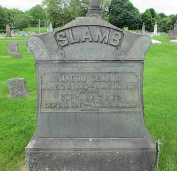 SLAMB (CW), JACOB - Northampton County, Pennsylvania | JACOB SLAMB (CW) - Pennsylvania Gravestone Photos