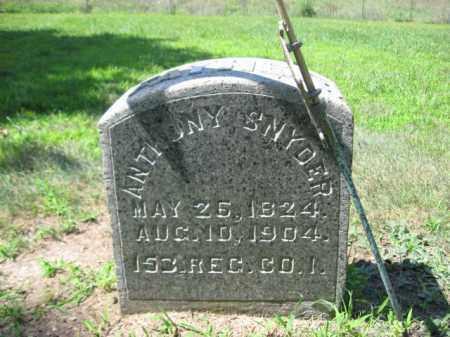 SNYDER   (CW), ANTHONY - Northampton County, Pennsylvania | ANTHONY SNYDER   (CW) - Pennsylvania Gravestone Photos