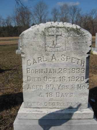 SPETH, PVT.CARL A. - Northampton County, Pennsylvania | PVT.CARL A. SPETH - Pennsylvania Gravestone Photos