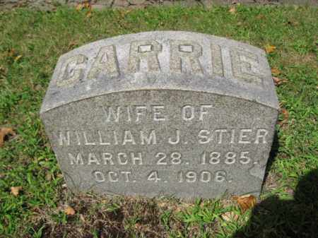STIER, CARRIE - Northampton County, Pennsylvania   CARRIE STIER - Pennsylvania Gravestone Photos