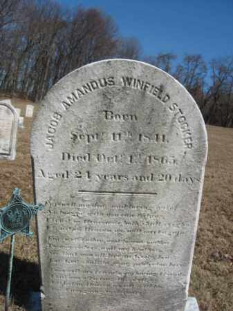 STOCKER (CW), JACOB AMANDUS W. - Northampton County, Pennsylvania | JACOB AMANDUS W. STOCKER (CW) - Pennsylvania Gravestone Photos