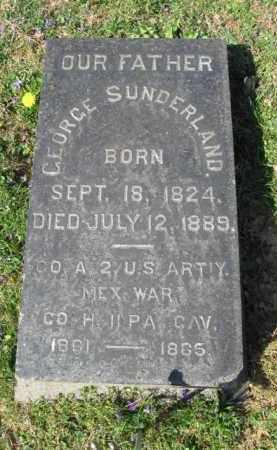 SUNDERLAND (CW), GEORGE - Northampton County, Pennsylvania | GEORGE SUNDERLAND (CW) - Pennsylvania Gravestone Photos