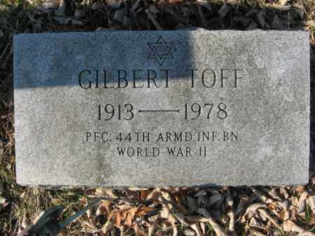 TOFF, GILBERT - Northampton County, Pennsylvania | GILBERT TOFF - Pennsylvania Gravestone Photos