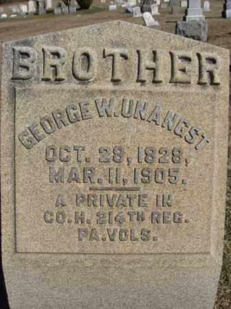 UNANGST  (CW), PVT.GEORGE W. - Northampton County, Pennsylvania | PVT.GEORGE W. UNANGST  (CW) - Pennsylvania Gravestone Photos