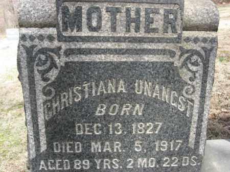 UNANGST, CHRISTIANA - Northampton County, Pennsylvania   CHRISTIANA UNANGST - Pennsylvania Gravestone Photos