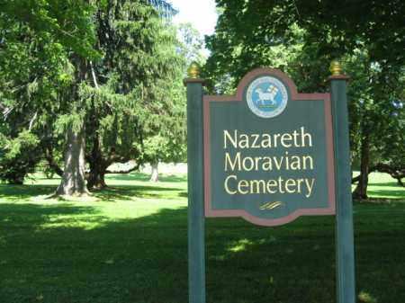 VIEW, NAZARETH MORAVIAN - Northampton County, Pennsylvania   NAZARETH MORAVIAN VIEW - Pennsylvania Gravestone Photos