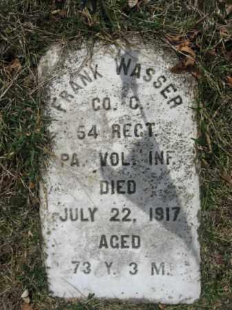 WASSER  (CW), PVT.FRANK - Northampton County, Pennsylvania   PVT.FRANK WASSER  (CW) - Pennsylvania Gravestone Photos