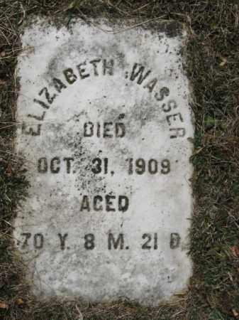 WASSER, ELIZABETH - Northampton County, Pennsylvania   ELIZABETH WASSER - Pennsylvania Gravestone Photos