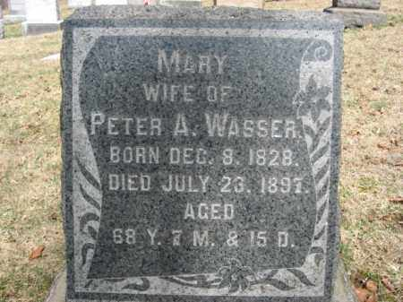 WASSER, MARY - Northampton County, Pennsylvania | MARY WASSER - Pennsylvania Gravestone Photos
