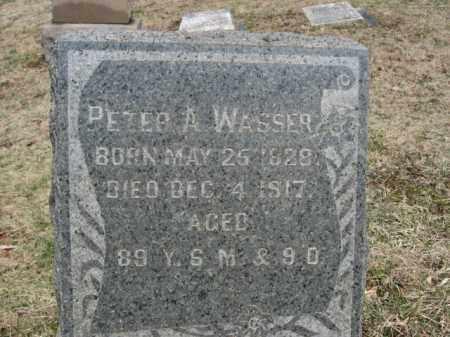 WASSER, PETER A. - Northampton County, Pennsylvania   PETER A. WASSER - Pennsylvania Gravestone Photos