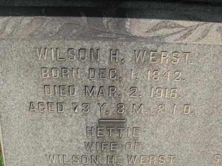 WERST (CW), WILSON H. - Northampton County, Pennsylvania | WILSON H. WERST (CW) - Pennsylvania Gravestone Photos