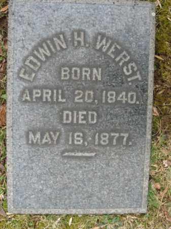 WERST, EDWIN H. - Northampton County, Pennsylvania   EDWIN H. WERST - Pennsylvania Gravestone Photos