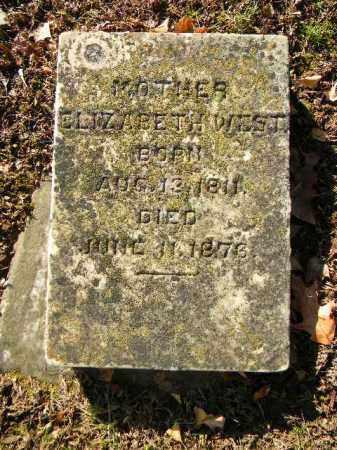 WEST, ELIZABEETH - Northampton County, Pennsylvania | ELIZABEETH WEST - Pennsylvania Gravestone Photos