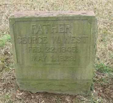 WEST, GEORGE W. - Northampton County, Pennsylvania | GEORGE W. WEST - Pennsylvania Gravestone Photos
