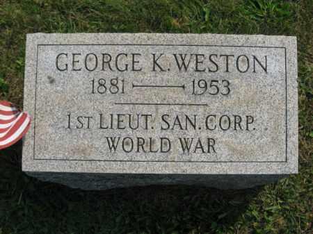 WESTON, GEORGE K. - Northampton County, Pennsylvania | GEORGE K. WESTON - Pennsylvania Gravestone Photos
