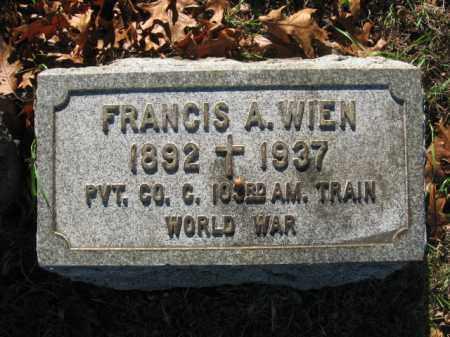 WIEN, FRANCIS A. - Northampton County, Pennsylvania   FRANCIS A. WIEN - Pennsylvania Gravestone Photos