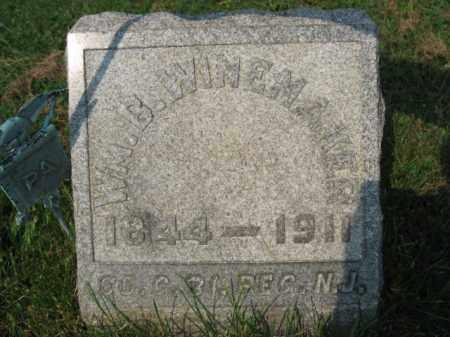 WINEMAKER, WILLIAM B. - Northampton County, Pennsylvania | WILLIAM B. WINEMAKER - Pennsylvania Gravestone Photos